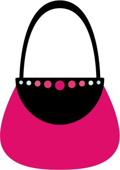 Girly diva graphic design. Barbie clipart purse