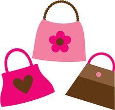 Silhouette design store view. Barbie clipart purse