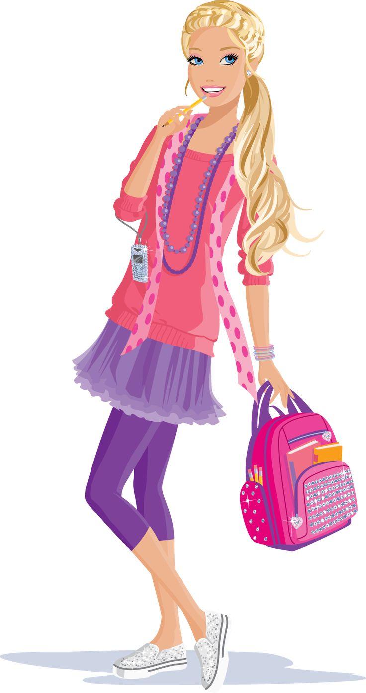 Barbie clipart school.  best pics images