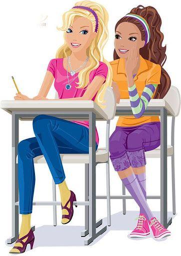 Barbie clipart school.  best mu ecas