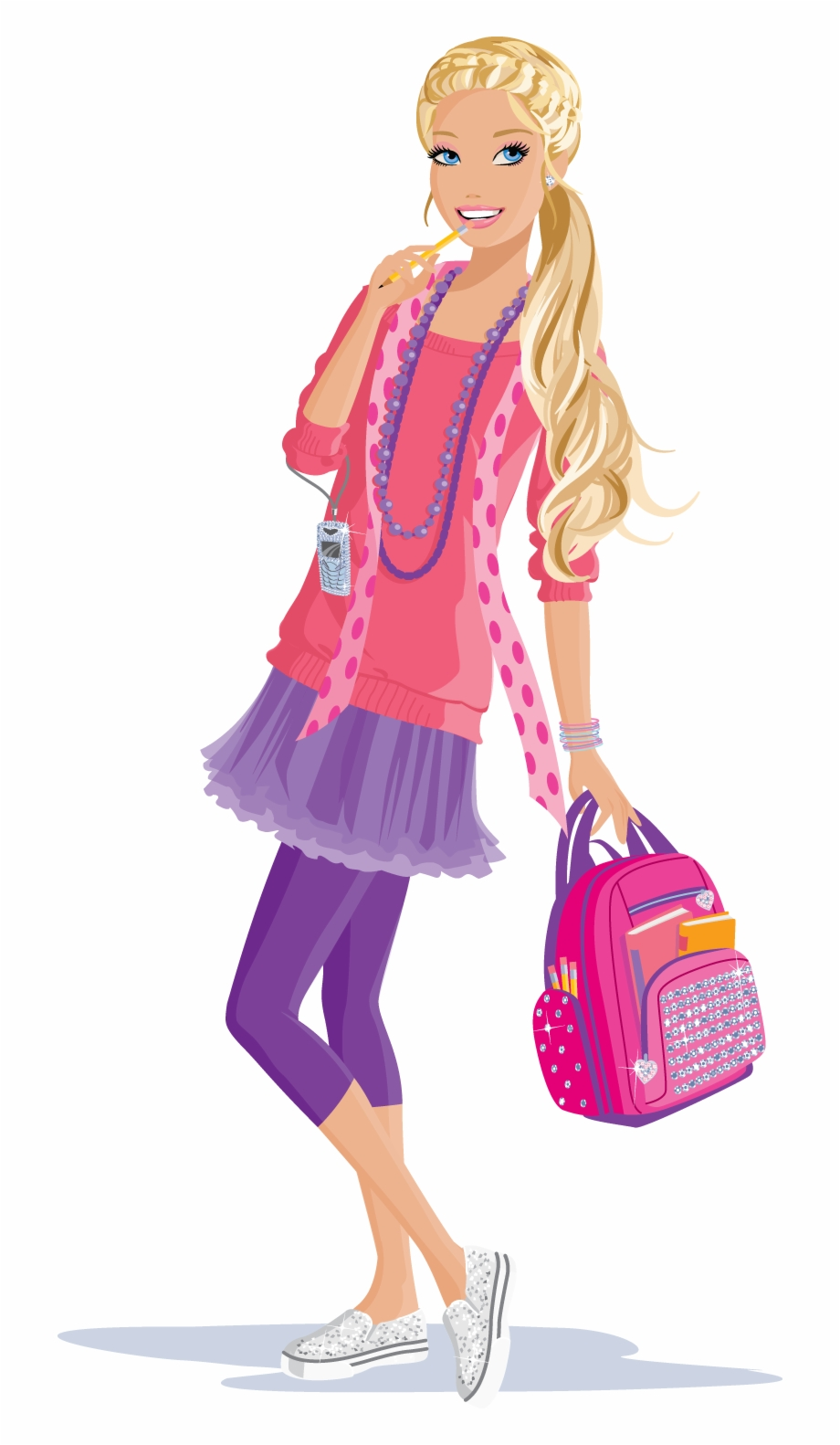 Barbie clipart school. Download transparent png clip