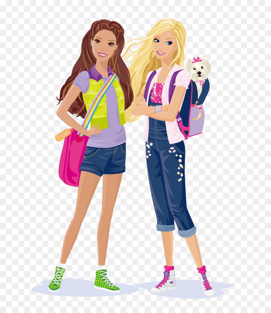 Background design illustration . Barbie clipart school