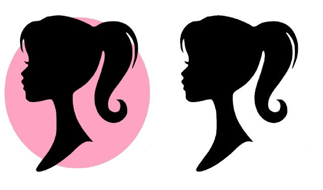 Free printable party pinterest. Barbie clipart silhouette