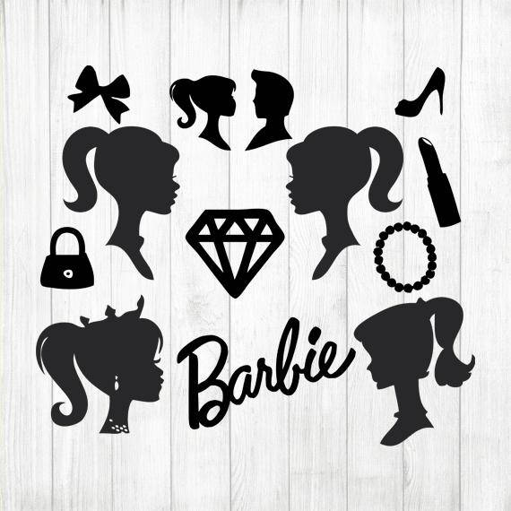 Photos images drawing art. Barbie clipart silhouette