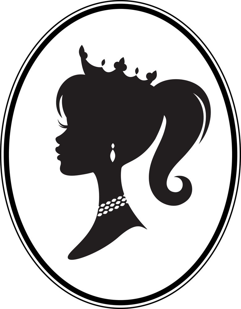 Princess party pinterest. Barbie clipart silhouette