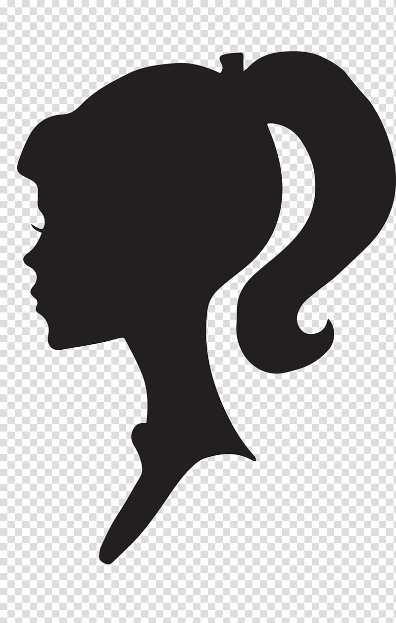 Barbie clipart silhouette. Female profile logo transparent
