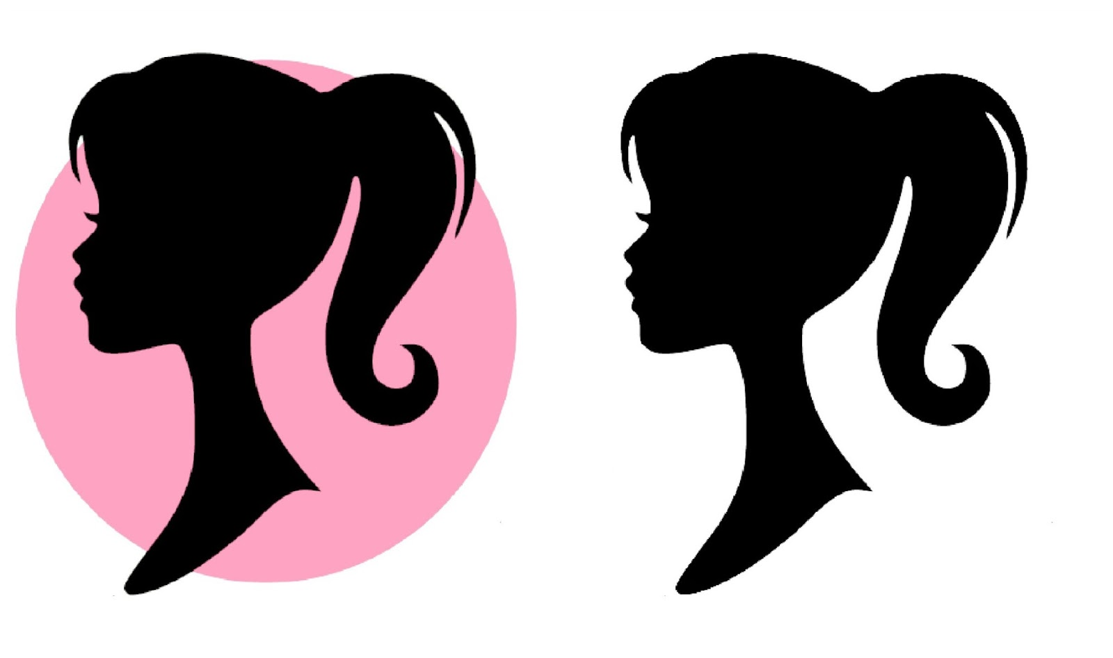 Free image download clip. Barbie clipart silhouette