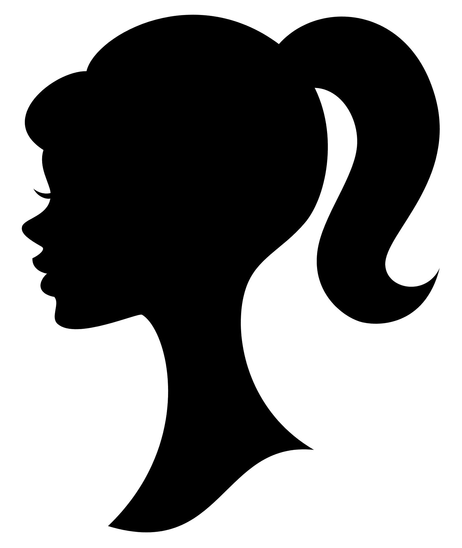 Barbie clipart silhouette. Panda free images clip