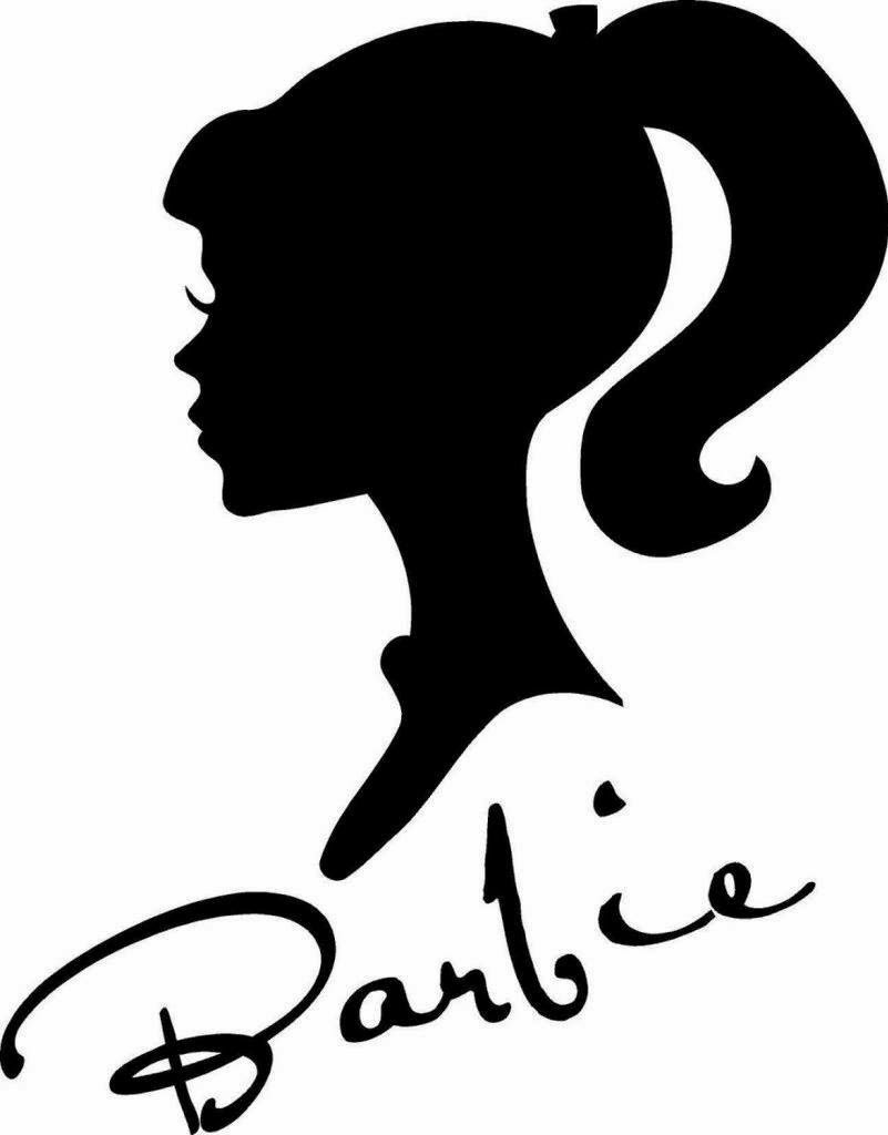 Barbie clipart stencil, Barbie stencil Transparent FREE ...