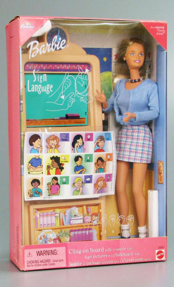 Sign language jpg. Barbie clipart teacher