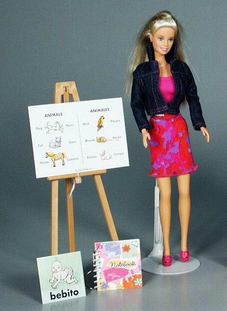 Barbie clipart teacher. Spanish jpg