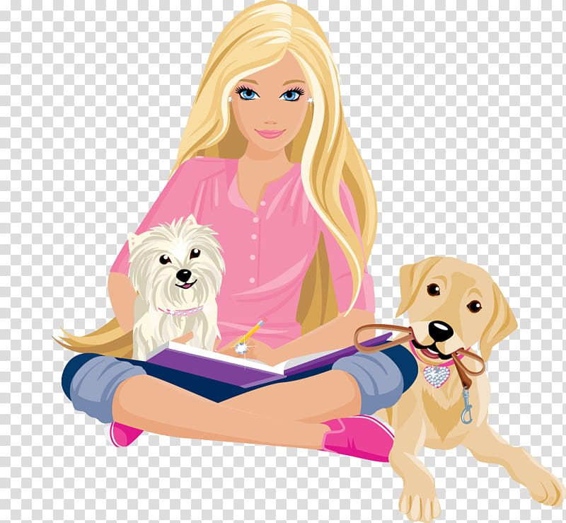 Barbie clipart teacher. And friends with dogs