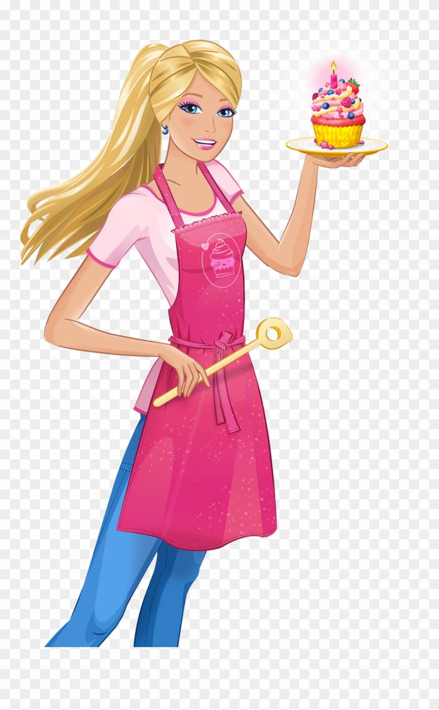 Iron on cartoon png. Barbie clipart transparent