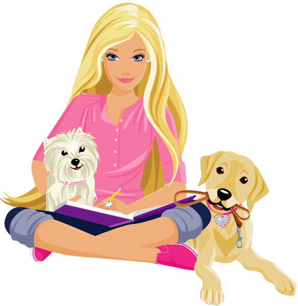 Transparent pinterest scrap and. Barbie clipart