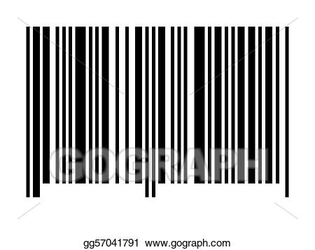 Drawing empty gg gograph. Barcode clipart