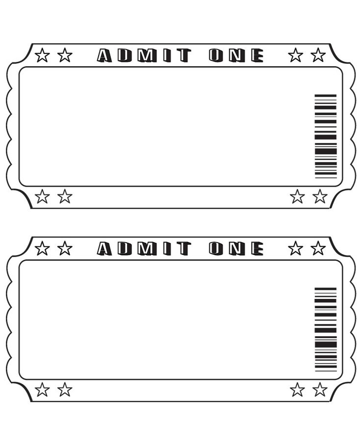 Admit One Ticket Template Microsoft Word from webstockreview.net