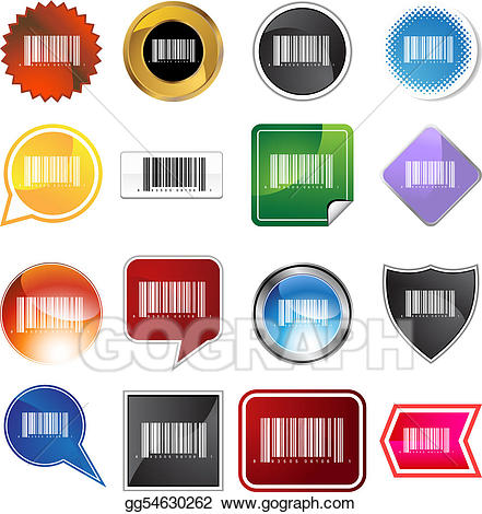 Barcode clipart barcode label. Vector set illustration gg