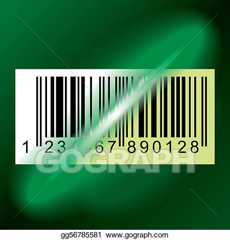 Barcode clipart barcode label. Vector stock illustration gg