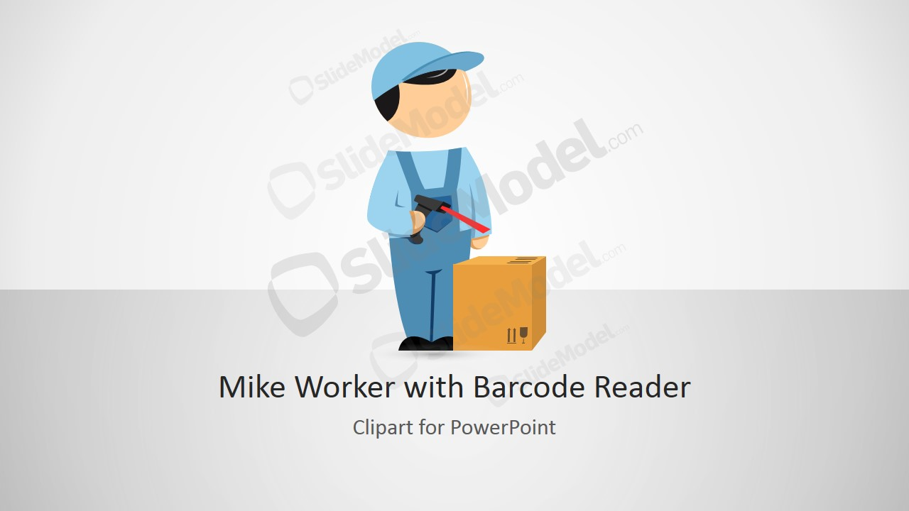 Mike powerpoint worker with. Barcode clipart cartoon