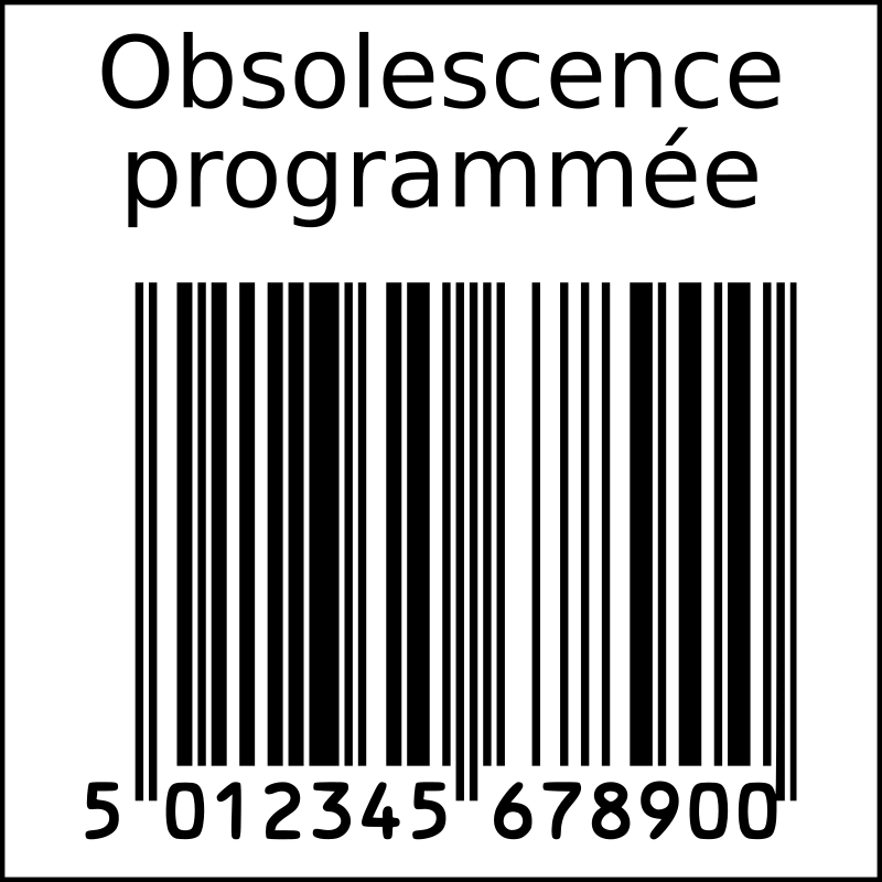 Barcode clipart french. Planned obsolescence in squarre