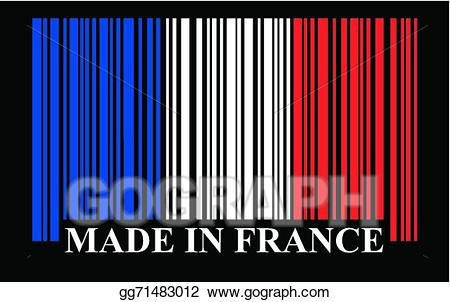 Eps vector flag stock. Barcode clipart french