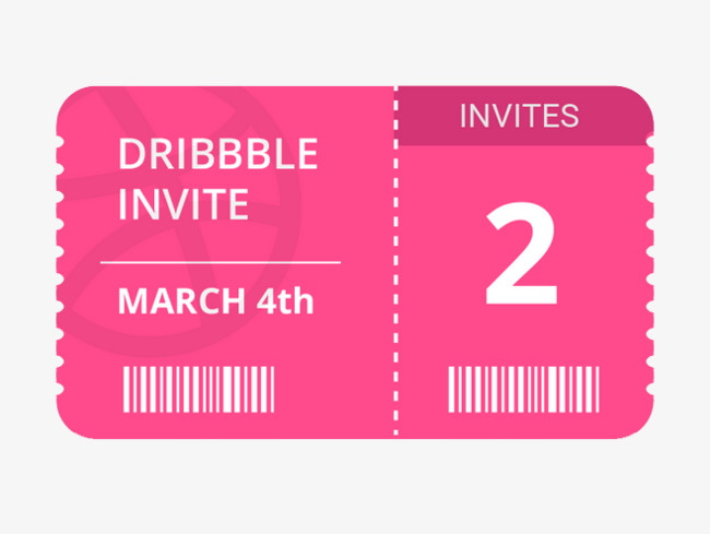 Barcode clipart invitation. Membership card material pink