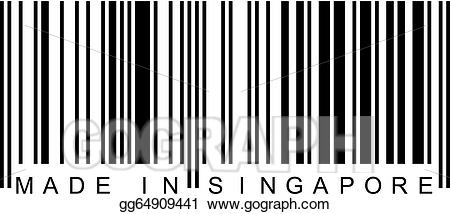 Eps vector made in. Barcode clipart logo