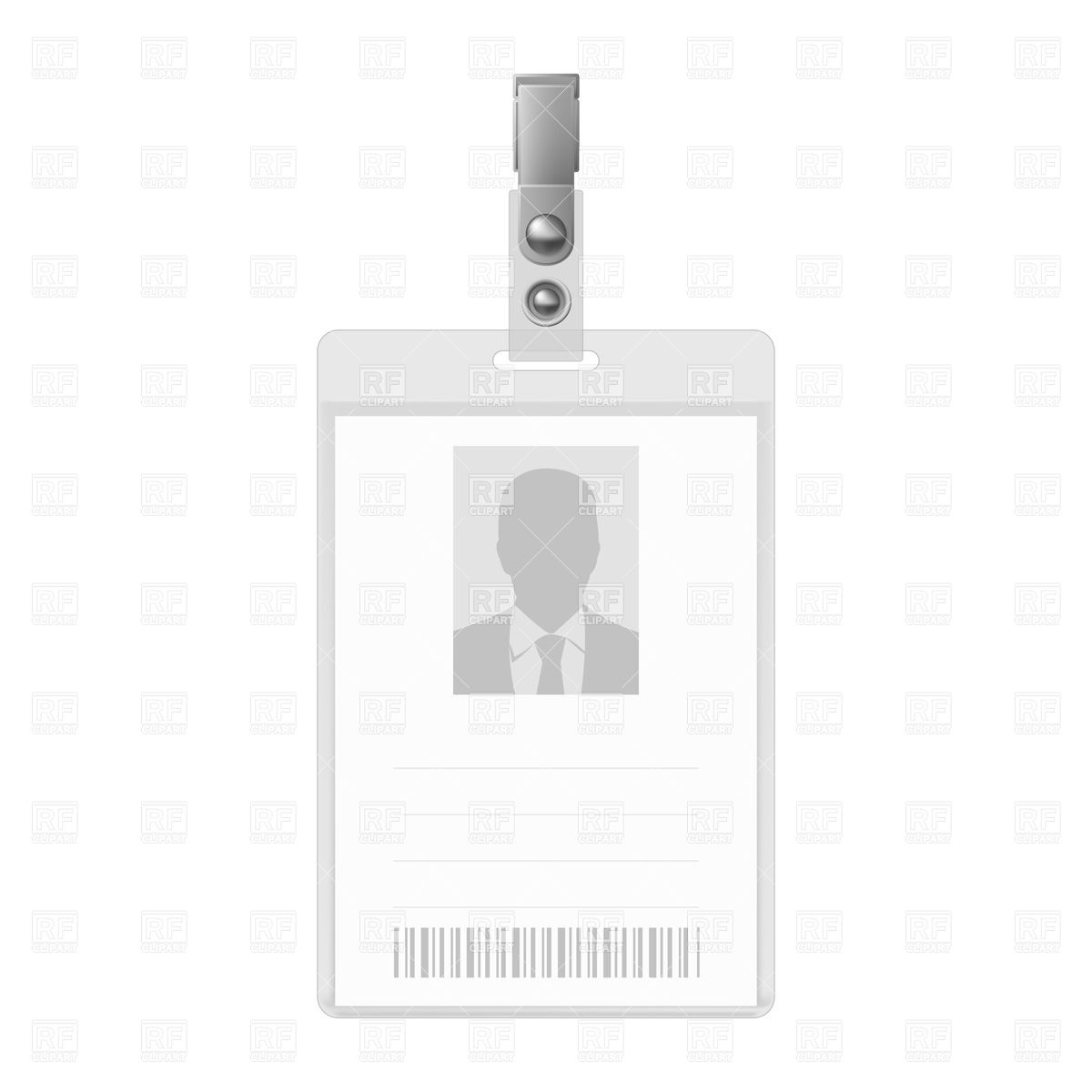 Blank . Barcode clipart royalty free