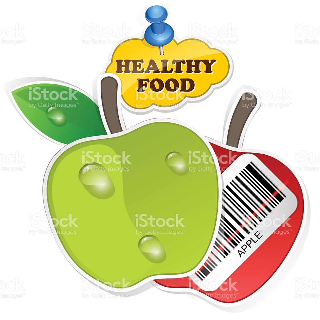 Food pencil and in. Barcode clipart royalty free