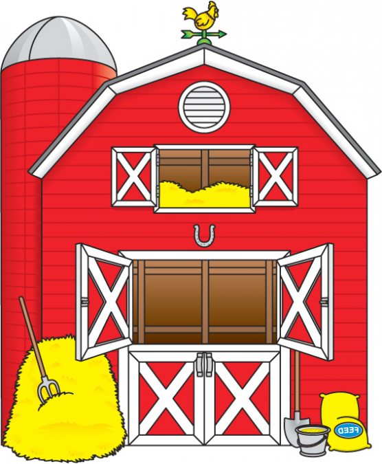 Barn clipart.  collection of red
