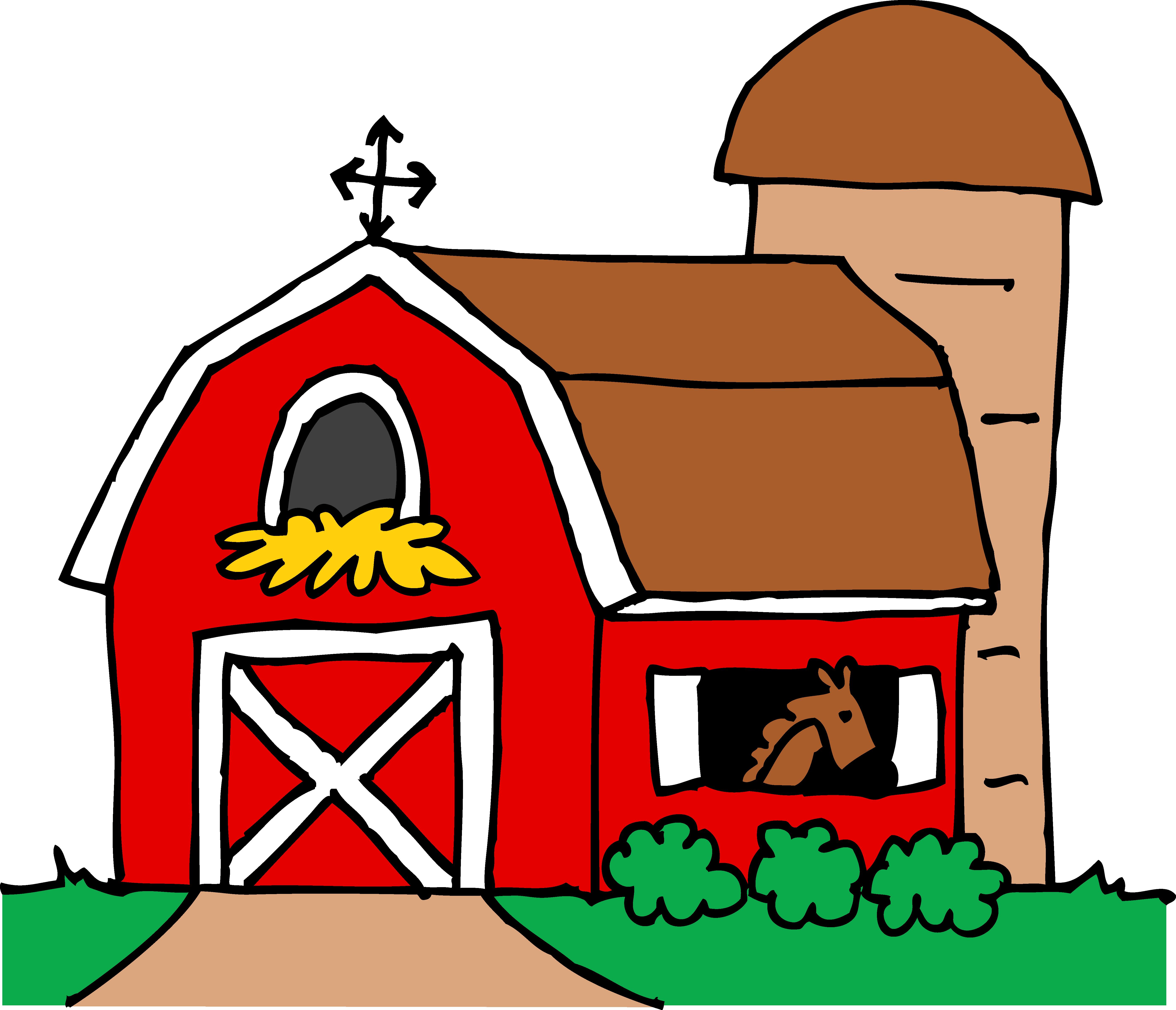 Free barn . Purple clipart tractor