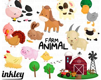Barn clipart animal farm. Digital clip art png
