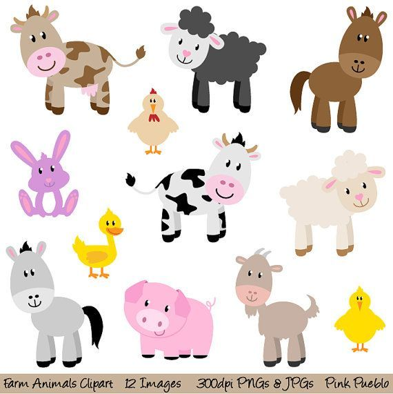 Animals clip art new. Barn clipart animal farm