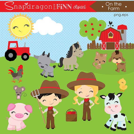 Barnyard . Barn clipart animal farm
