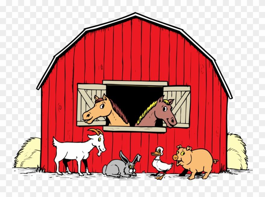 Farmhouse clipart farm theme. Barnyard png barn transparent
