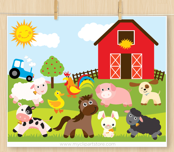 Animals premium vector svg. Barn clipart animal farm