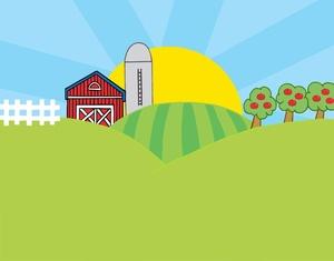 Owl cute cartoon farm. Barn clipart animated