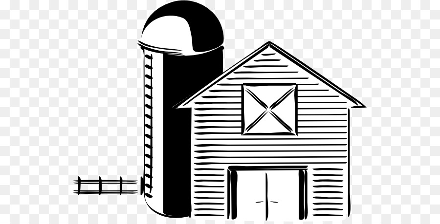 Barn clipart barn silo. Black and white farm