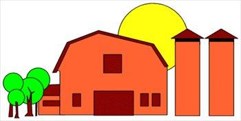 Barn clipart barn silo. Free and silos graphics