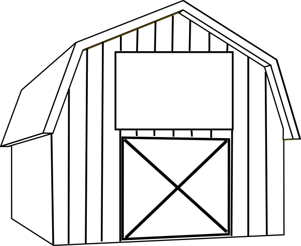 Barn clipart black and white. Clip art at clker