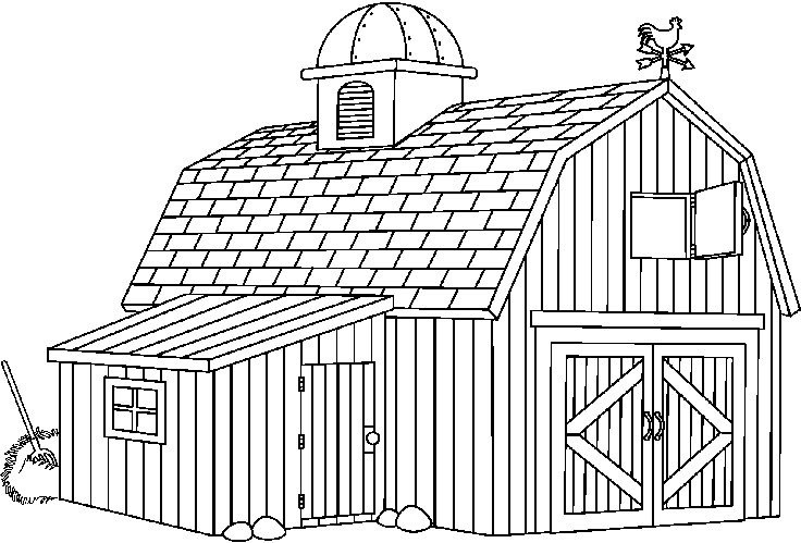 Letters throughout . Barn clipart black and white