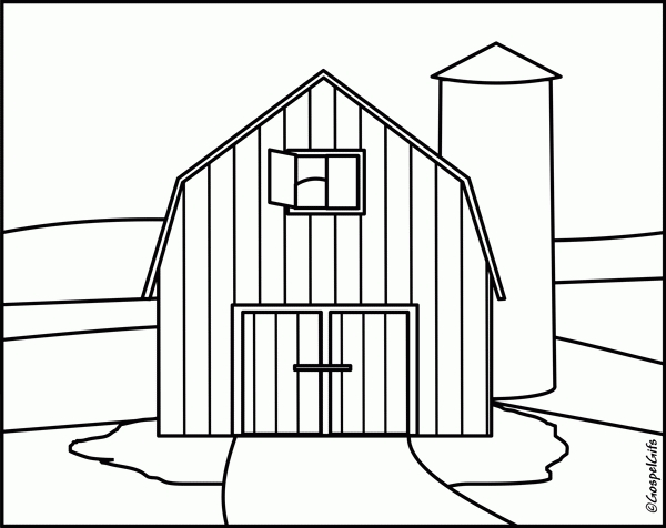 Barn clipart black and white. Top of letter master