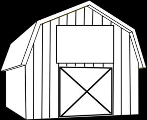 Cartoon clip art . Barn clipart black and white