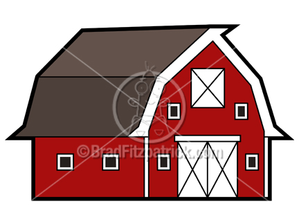 Picture royalty free clip. Barn clipart cartoon