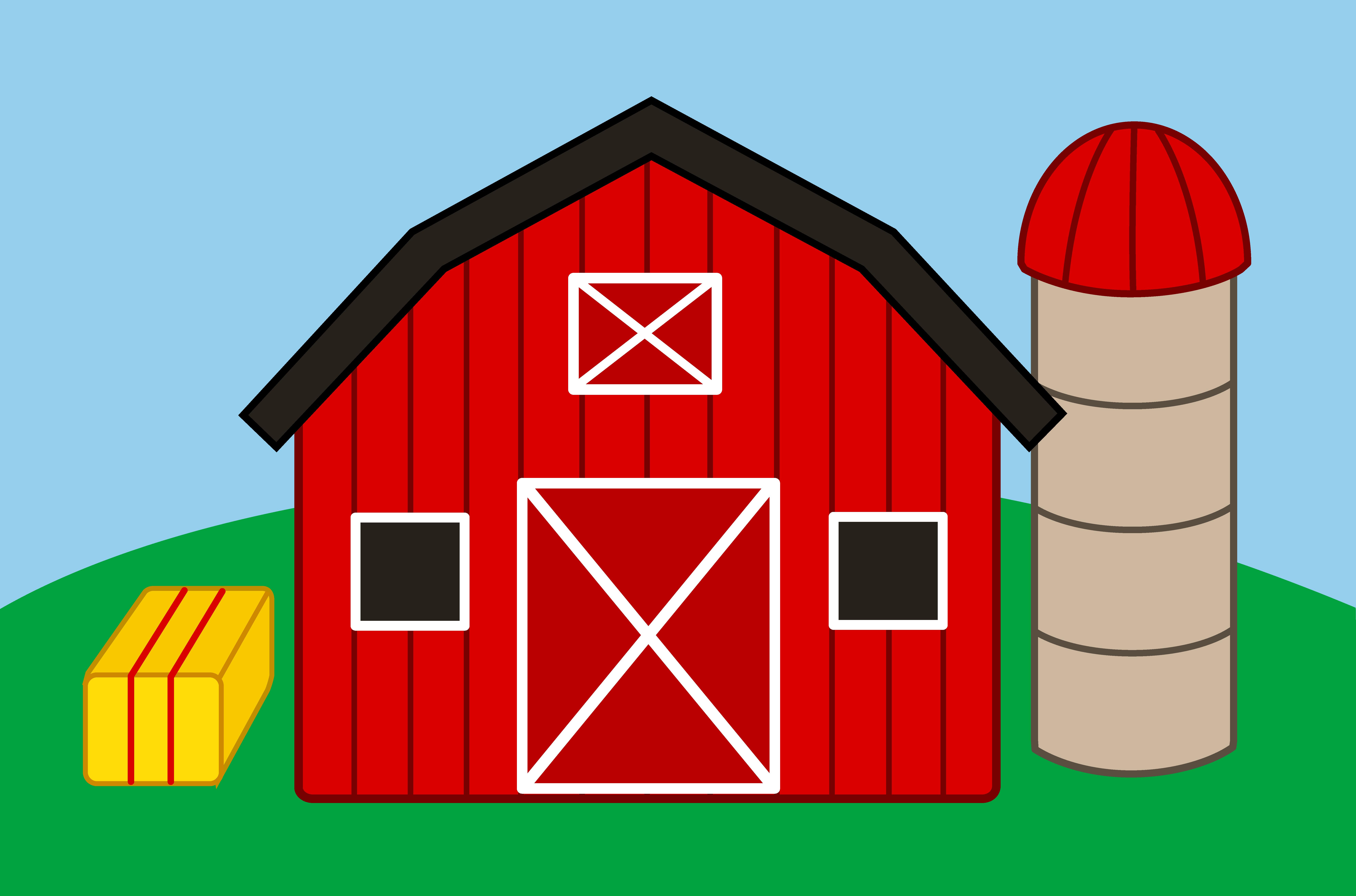 Barn clipart cartoon. Farm house