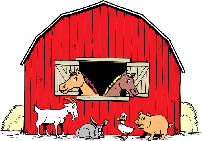 Cartoon barn free . Tall clipart tall animal