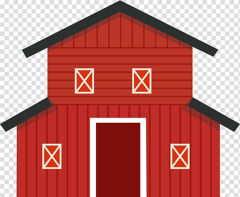 Barn clipart cartoon. Icon red transparent background