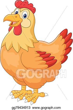 Barn clipart chicken. Vector stock hen cute