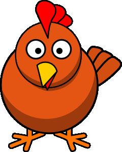 Chicken cartoon clip art. Hen clipart common animal