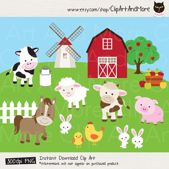 Farm animal cute cow. Barn clipart clip art